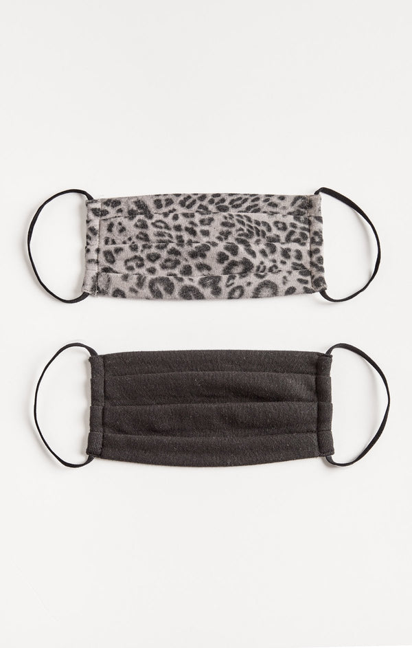 Grey Leopard Reusable Mask - 2 Pack