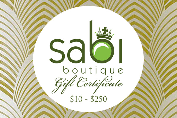 Gift Certificate - Sabi Boutique