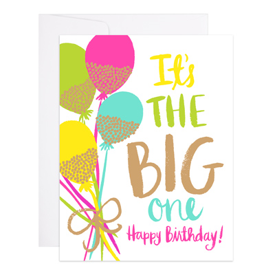 Glitter Balloons Greeting Card