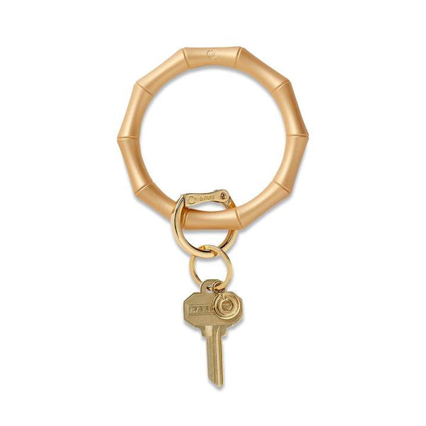 Silicone Big O Key Ring - Bamboo Gold Rush