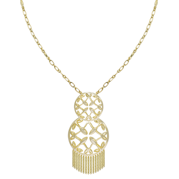 Grace Tassel Pendant Necklace in Gold