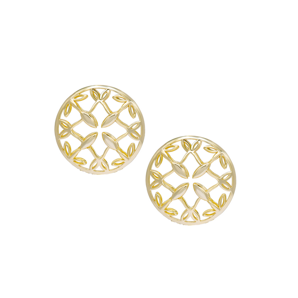 Grace Stud Earrings - Gold