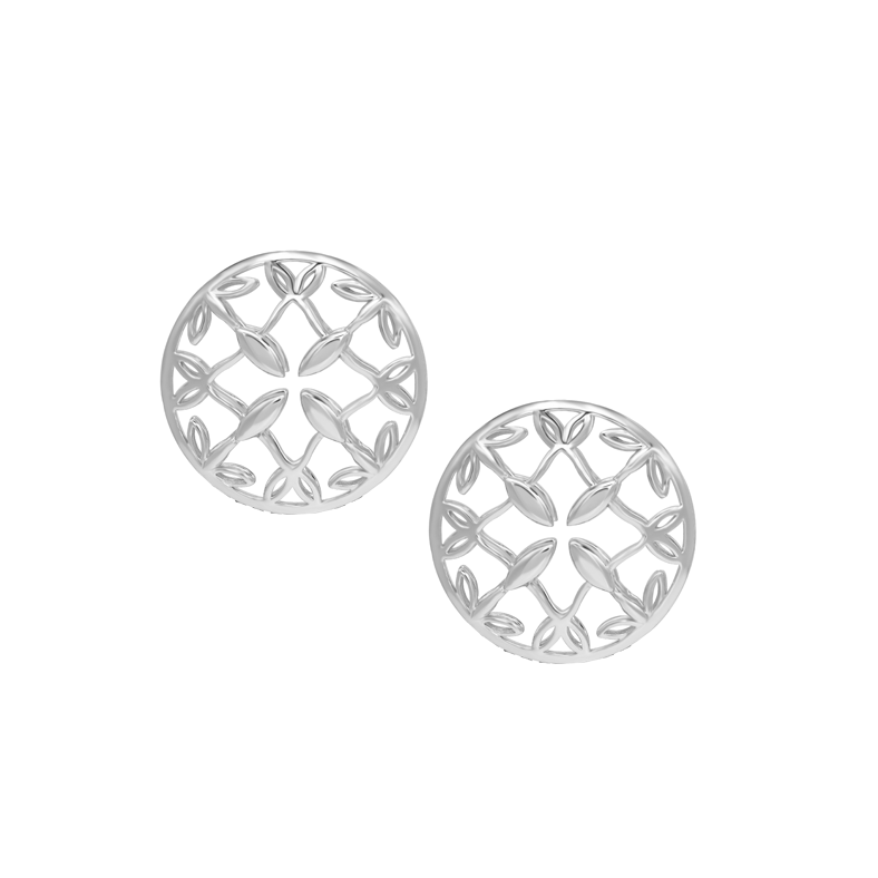Grace Stud Earrings in Silver