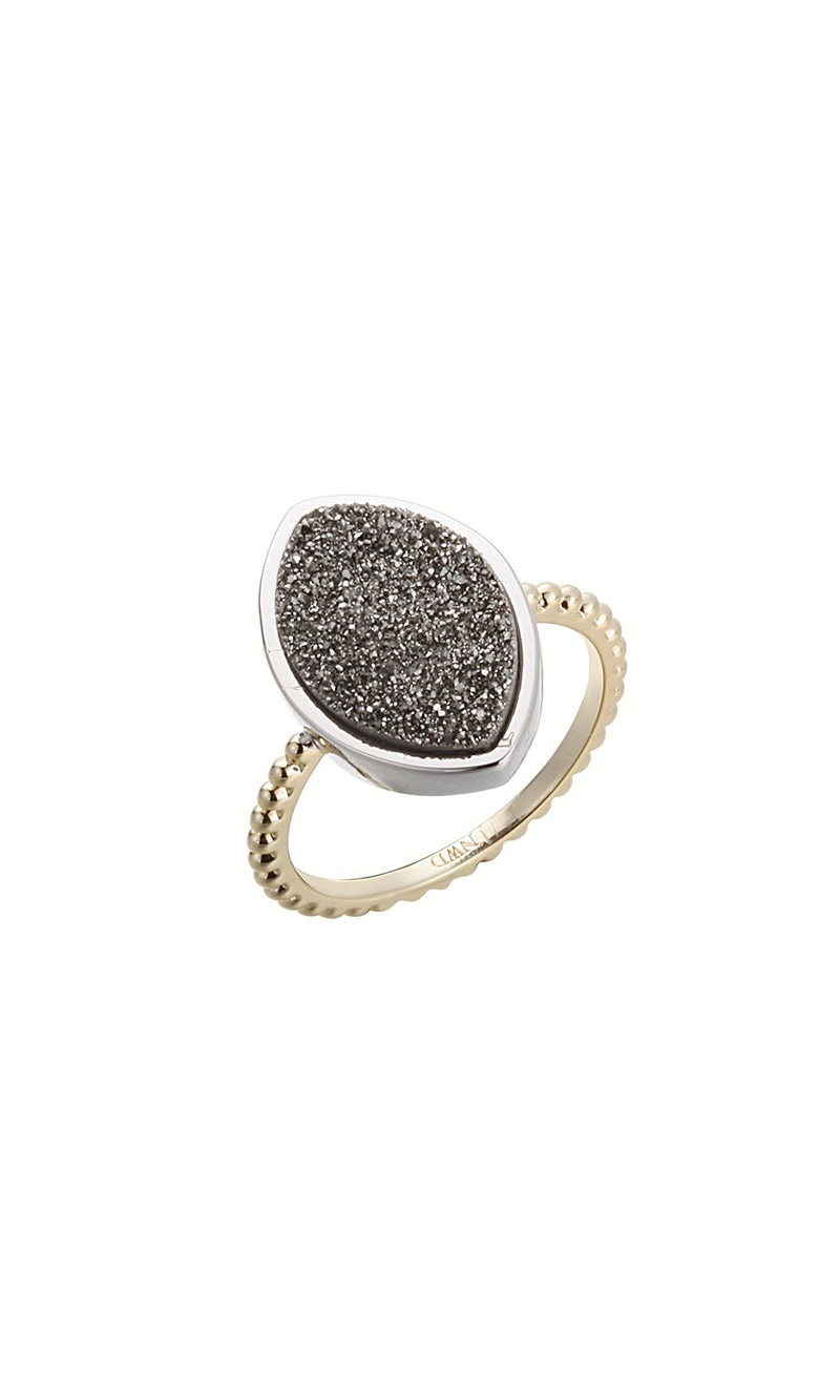 NATALIE WOOD DESIGNS She's A Gem Ring- Grey Drusy