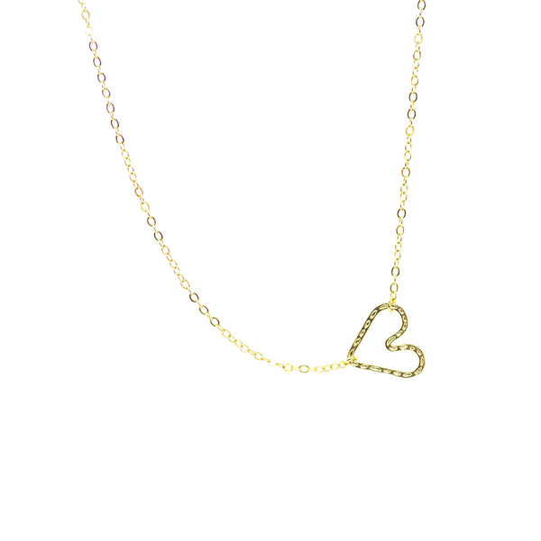 Heartthrob Pendant Necklace, Gold