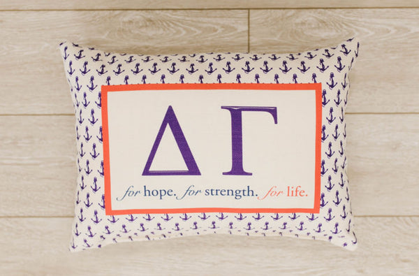 Greek Pillow - Delta Gamma