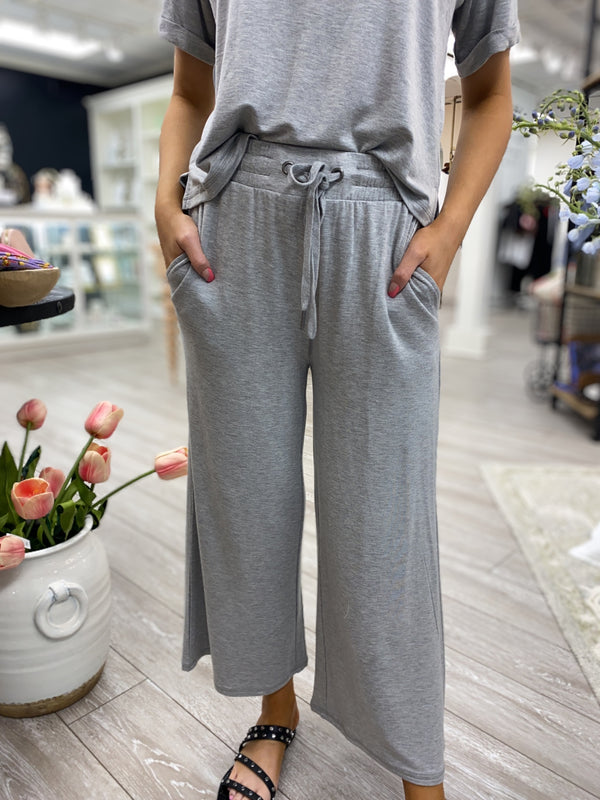 Weekend Crop Pant, Heather Grey