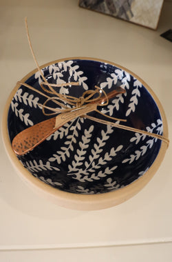 Blue Dip Bowl Set, Branch