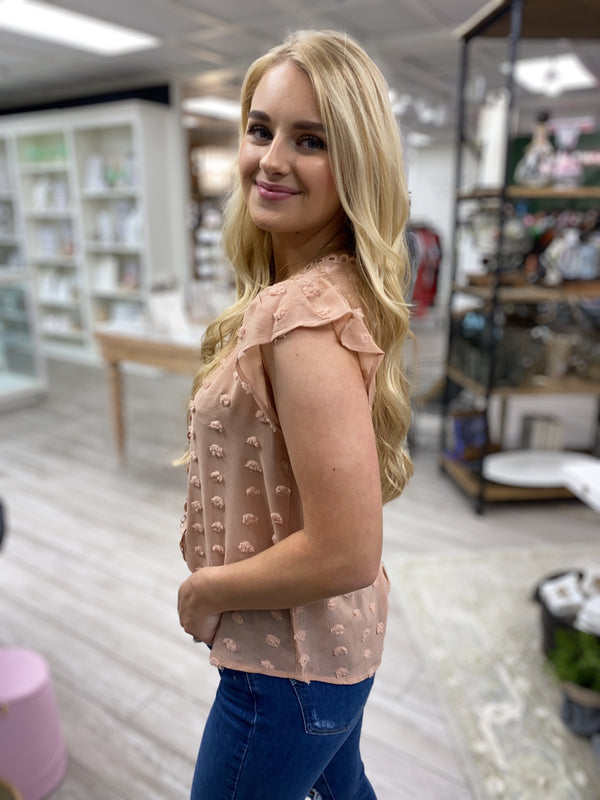 Wild Rose Top, Dusty Rose