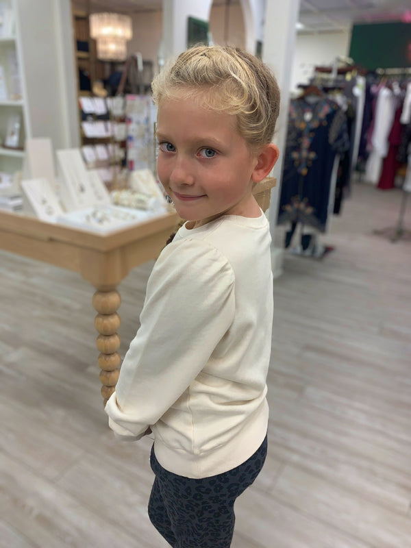 Girls Carmen Zoe Sweatshirt, Bone