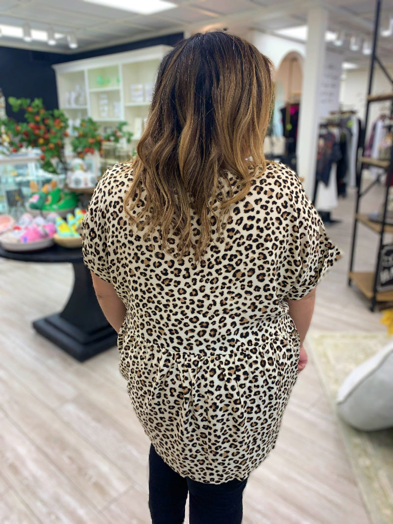 Love Out Loud Leopard Top, Curvy