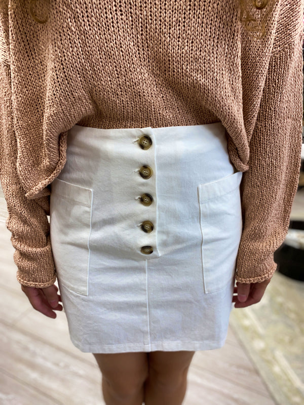 Lexie Mini Skirt, Off White
