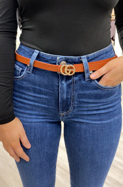 Small Blakely Belt, Cognac