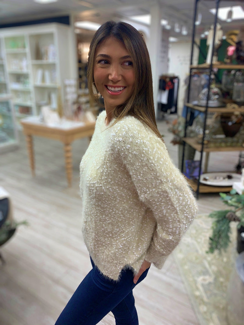 No Going Back Sweater in Oatmeal