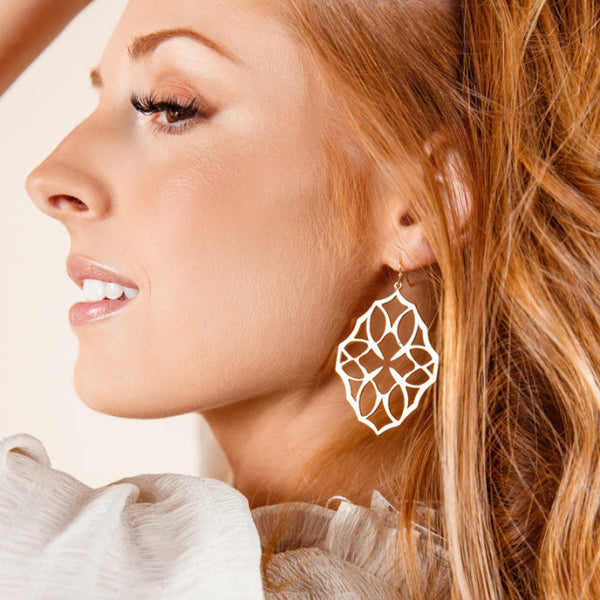 Believer Large Drop Earrings in Gold
