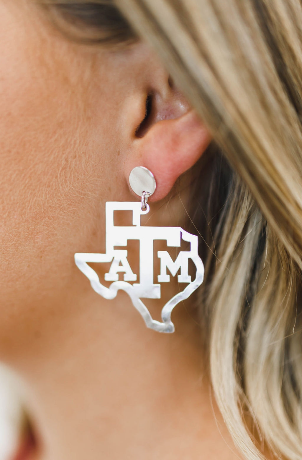 LOLA + LINA A&M State Earrings - Silver