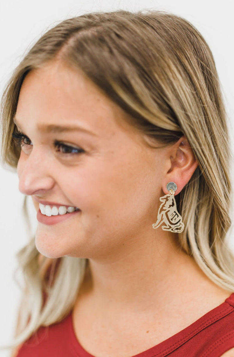 LOLA + LINA Reveille Earrings, Small - Gold