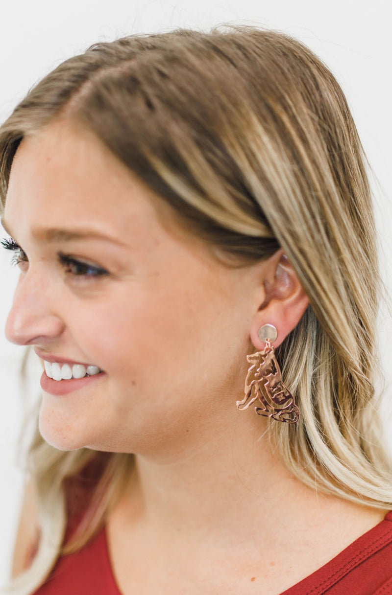 LOLA + LINA Reveille Earrings, Small - Rose Gold