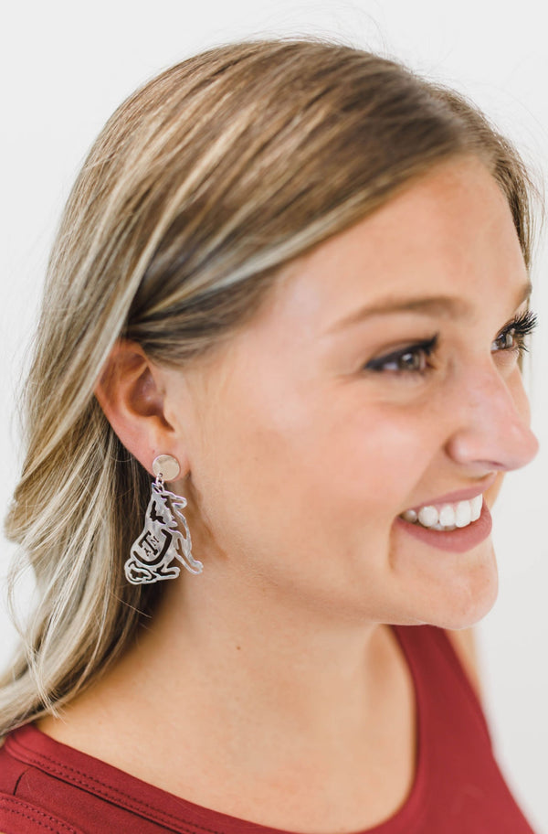 LOLA + LINA Reveille Earrings, Small - Silver