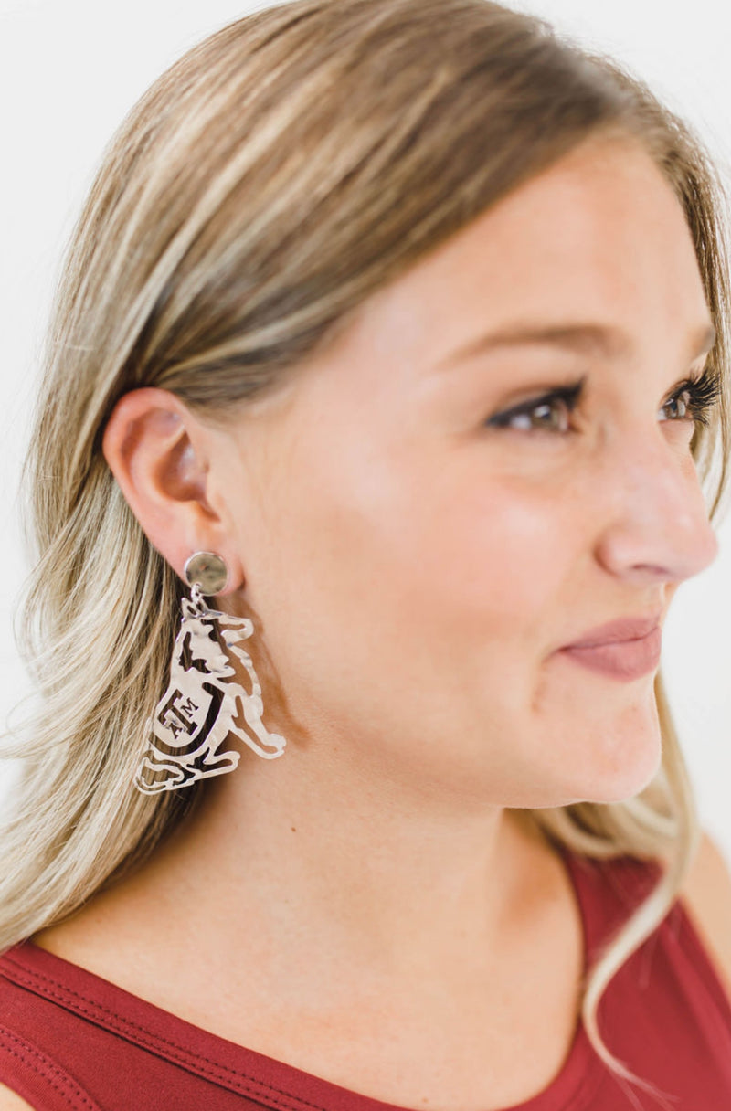 LOLA + LINA Reveille Earrings, Large - Silver