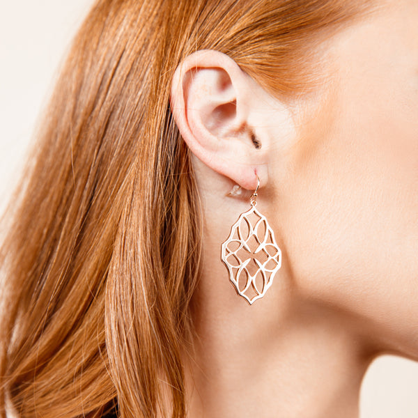 Believer Small Drop Earrings in Silver