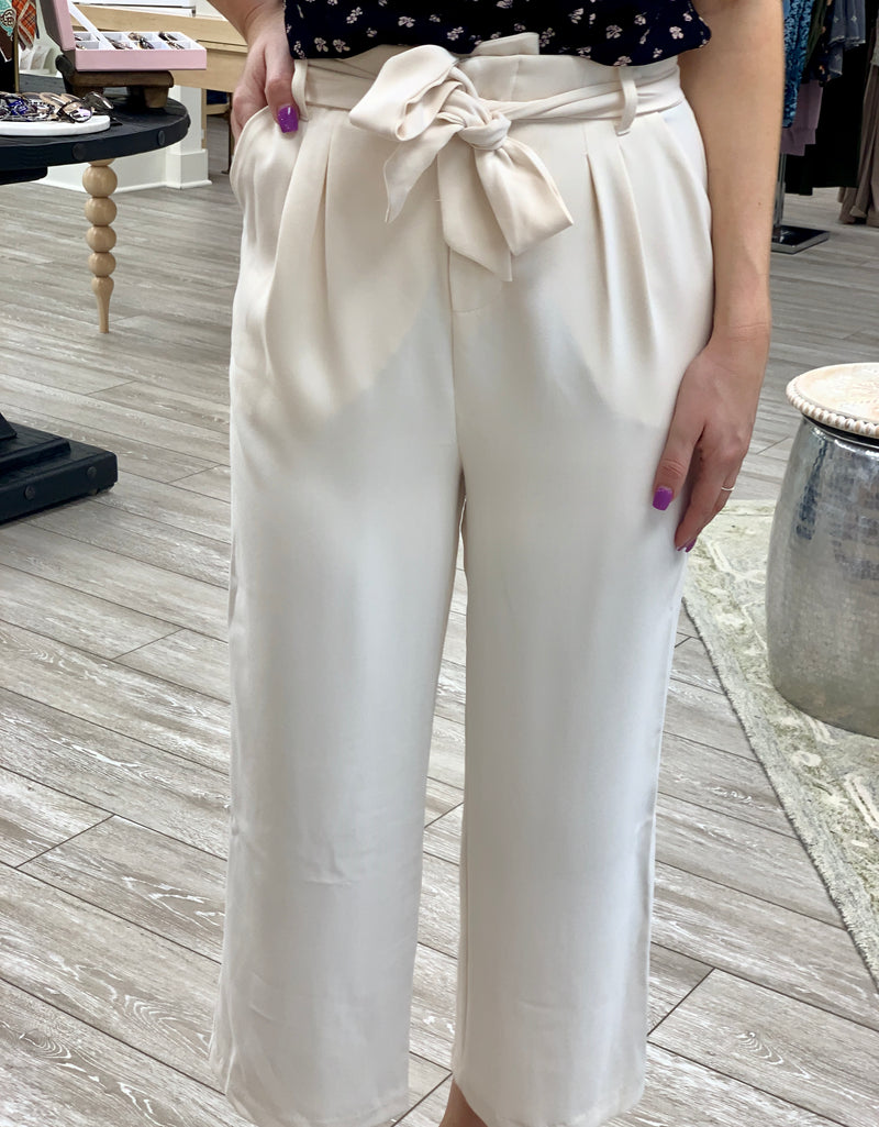 Go With The Flow Cropped Pant, Pearl