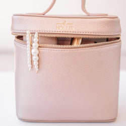 Mini Makeup Bag, Rose Gold