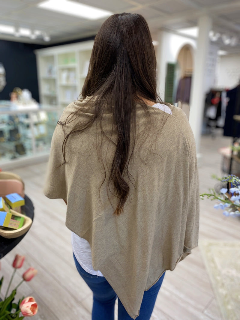 Eden Poncho, Light Taupe