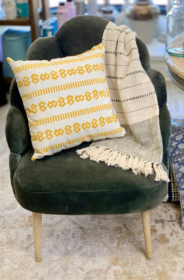 Mustard Pattern Pillow