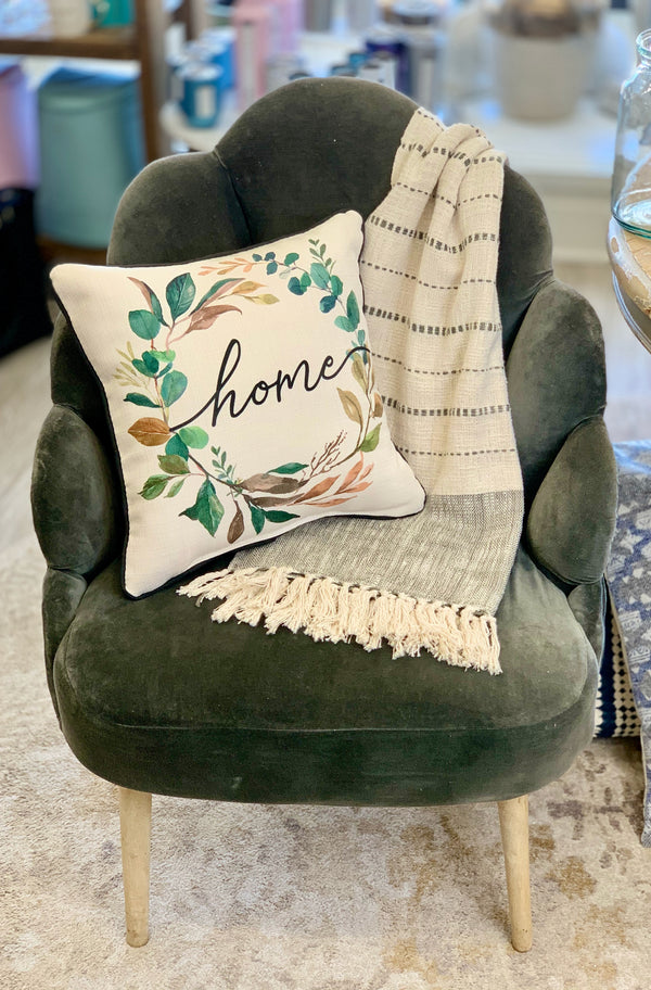 Home Wreath Pillow