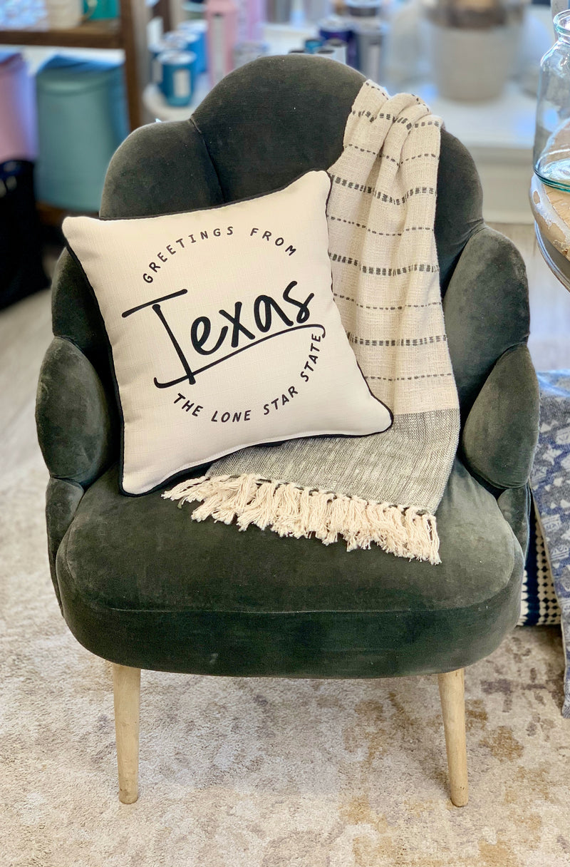 Greetings From Texas Pillow