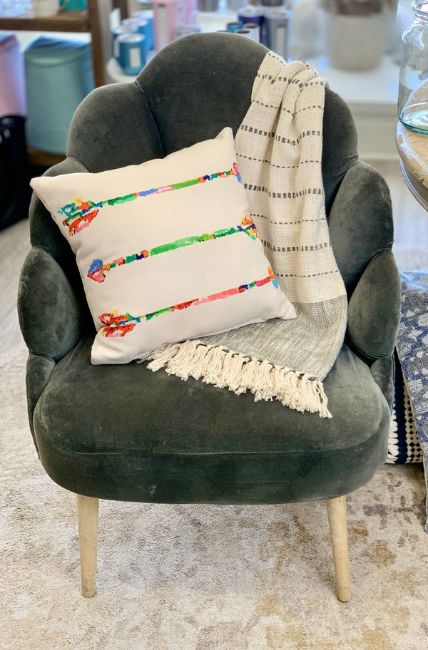 Watercolor Arrows Pillow