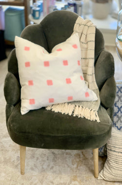 Ikat Stitch Pillow, Coral