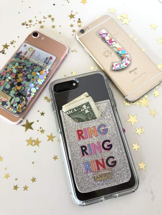 Ring Ring! Glitter Phone Wallet Sticker