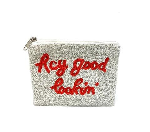 Hey Good Lookin' Beaded Pouch