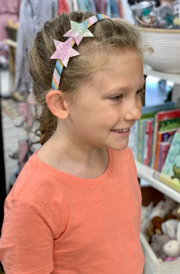 Girls Rainbow Star Headband
