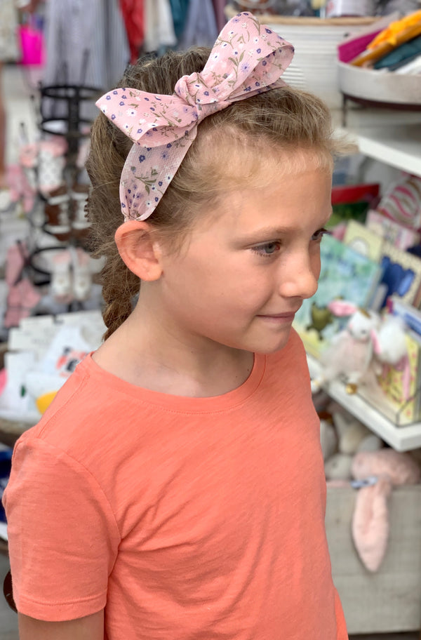 Girls Pink Floral Headband