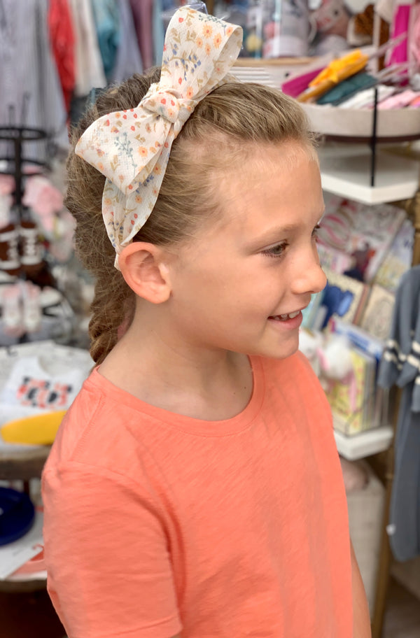 Girls Ivory Floral Headband
