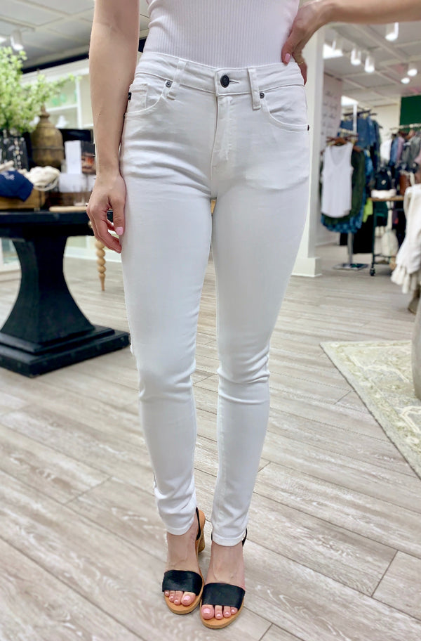 Hollie Mid Rise Super Skinny, White