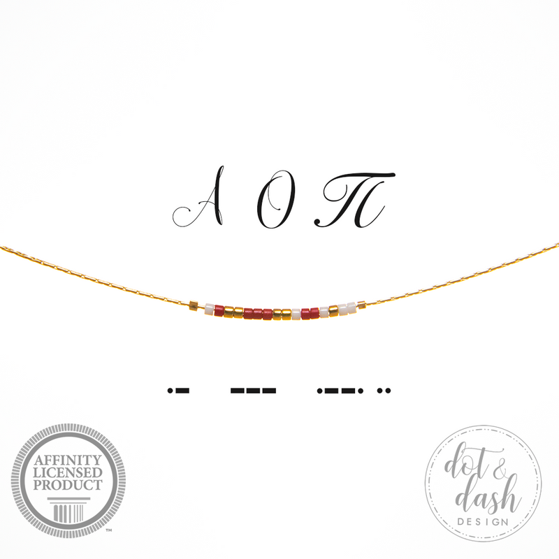 Morse Code Sorority Necklace