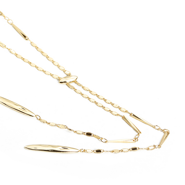Just Dance Lariat Necklace in Gold