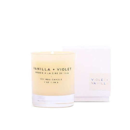 Vanilla + Violet Statement Candle