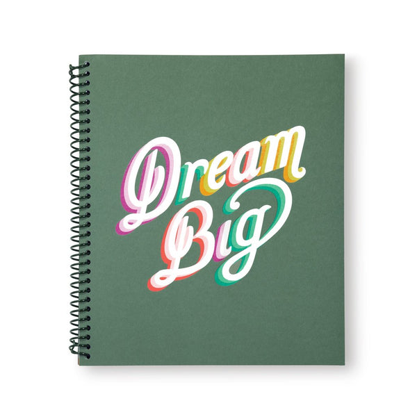 Large Spiral Notebook, Dream Big