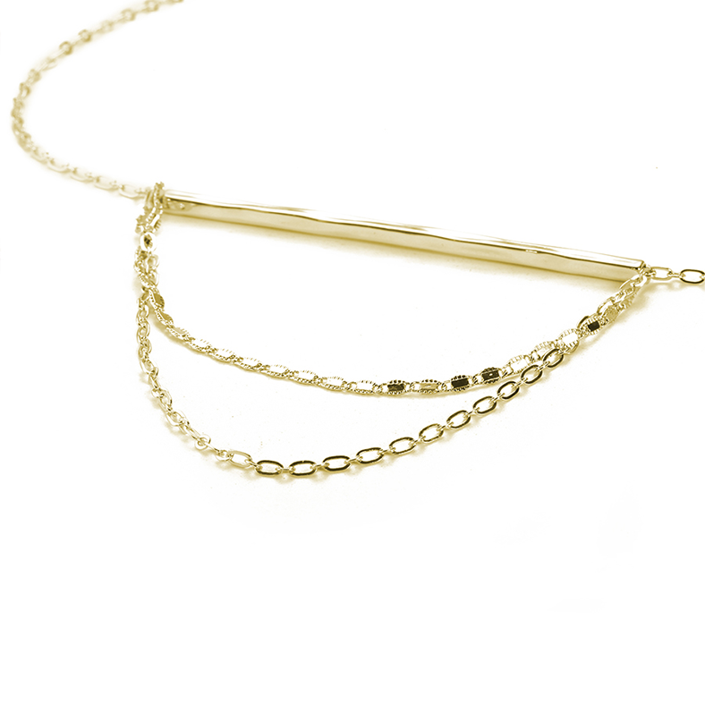 Life Of The Party Necklace - Gold