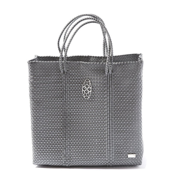 Oaxaca Medium Tote Bag, Silver