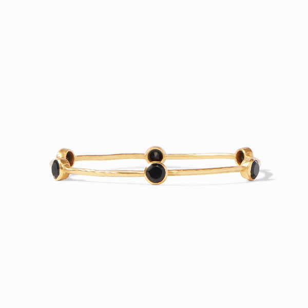 Milano Bangle - Gold Obsidian Black