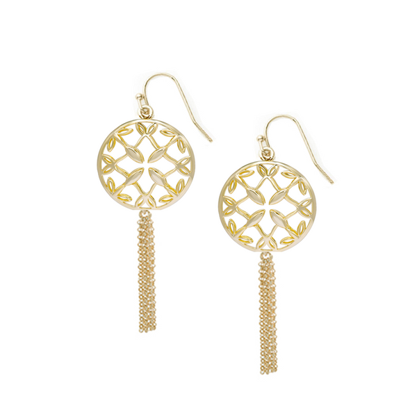 Grace Mini Tassel Earrings - Gold
