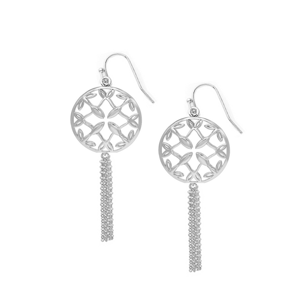 Grace Mini Tassel Earrings - Silver