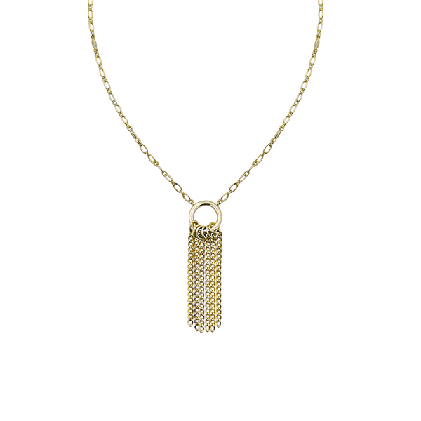 Grace Mini Tassel Necklace in Gold