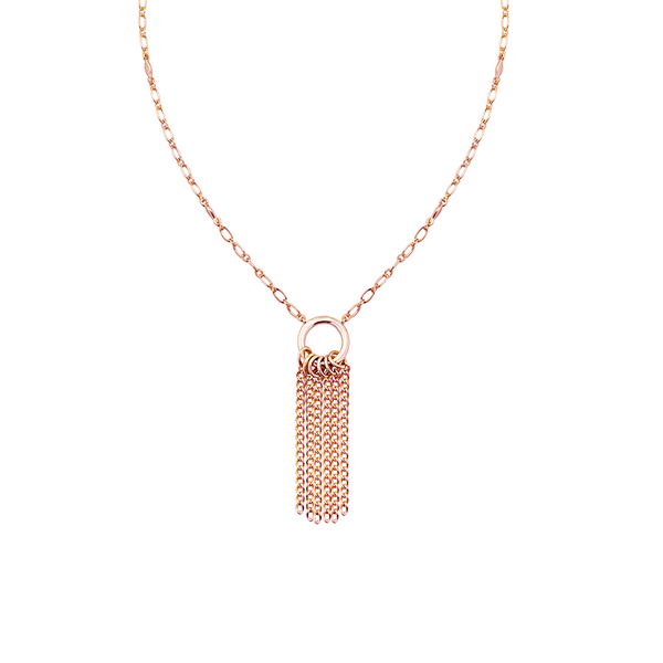 Grace Mini Tassel Necklace - Rose Gold